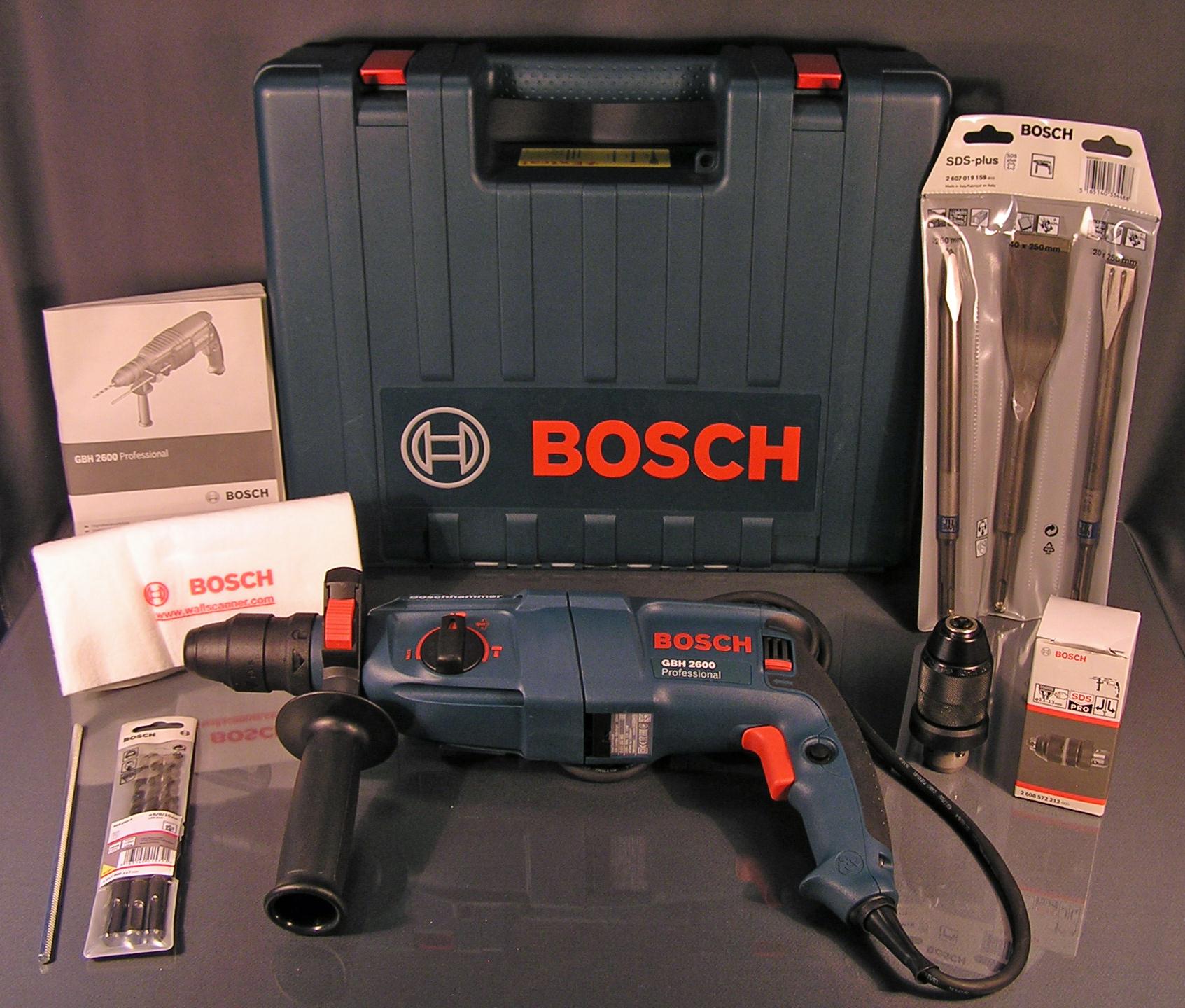 bosch gbh 2600 professional bohrhammer sds plus set 8 teiliges zubeh r ovp neu ebay. Black Bedroom Furniture Sets. Home Design Ideas