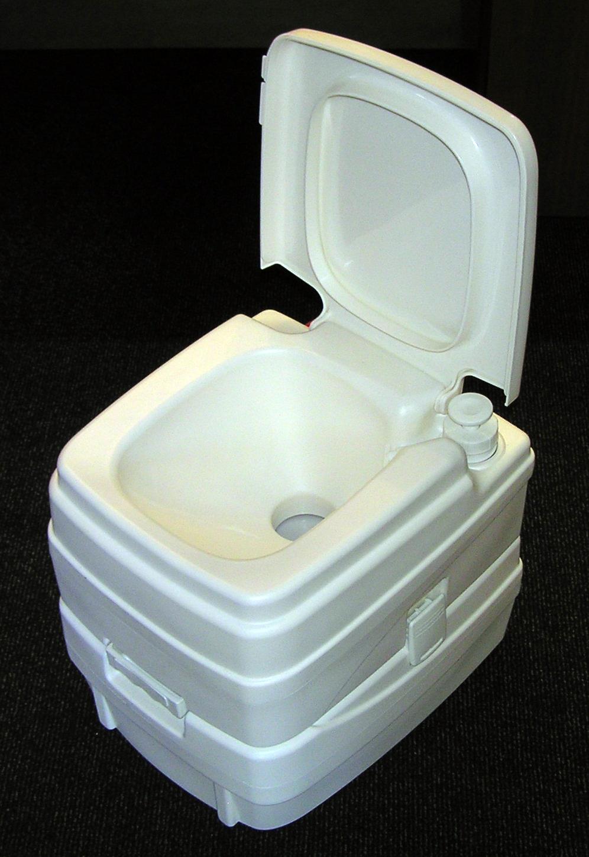 mobile camping toilette 20 10 liter wei wc chemieklo mit klappdeckel pumpe ebay. Black Bedroom Furniture Sets. Home Design Ideas