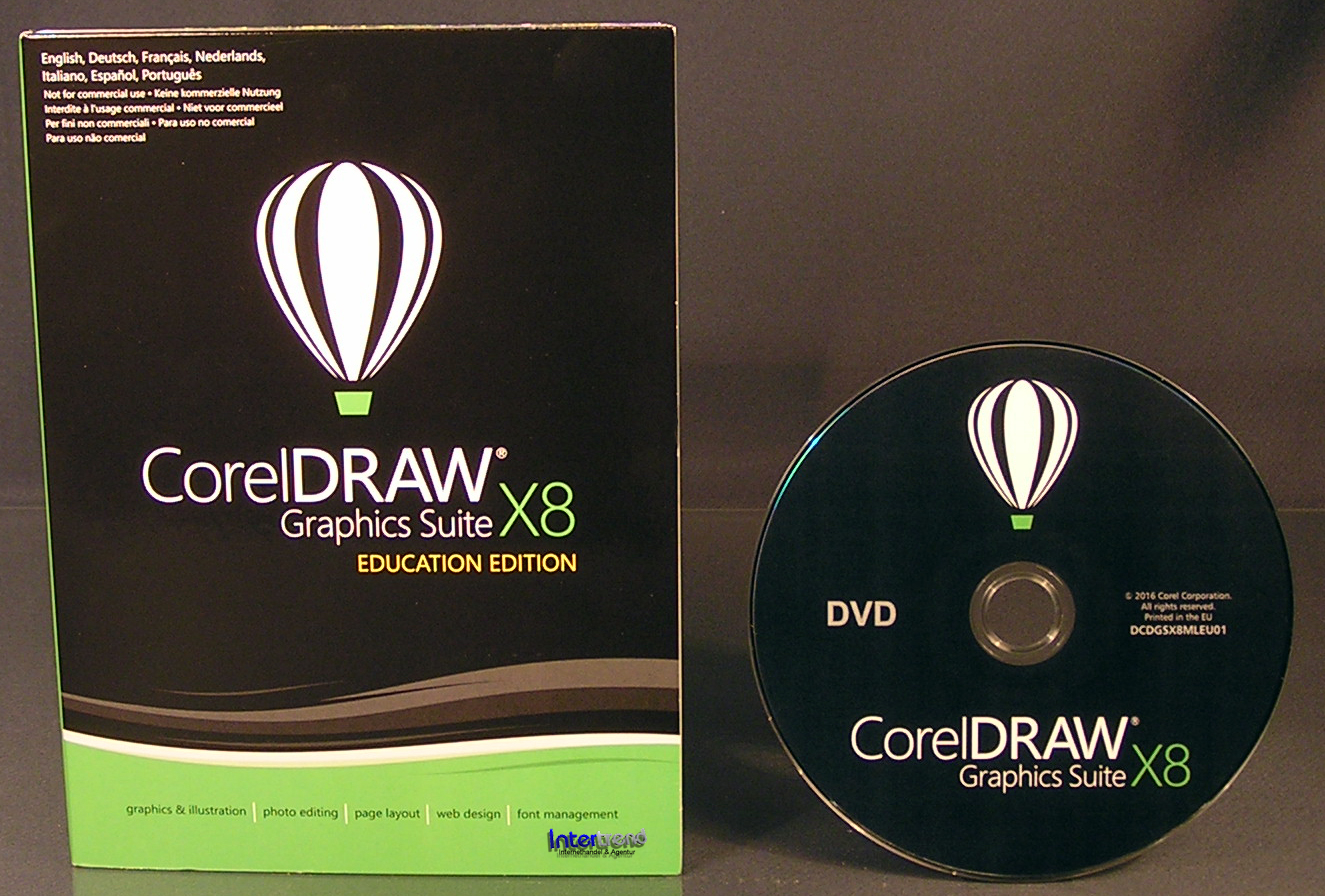 Corel Draw Graphics Suite X8 Vollversion Box + CD ...