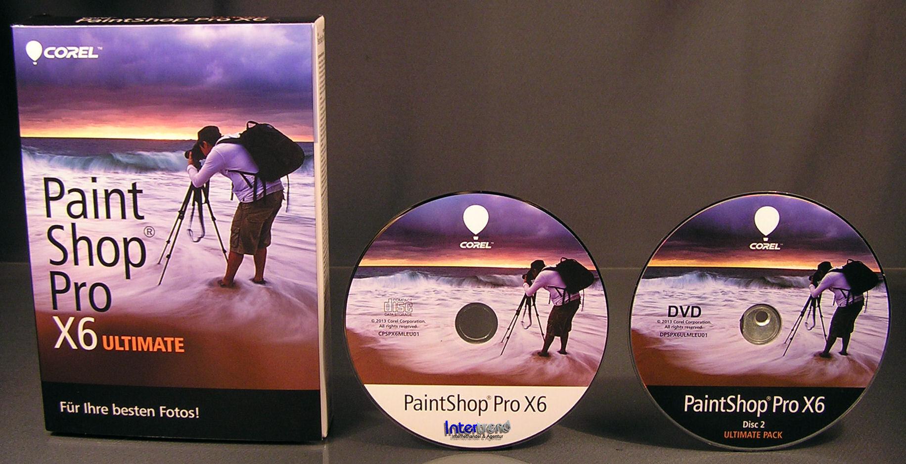 corel paintshop pro x6 ultimate vollversion box cd handbuch pdf ovp neu ebay. Black Bedroom Furniture Sets. Home Design Ideas