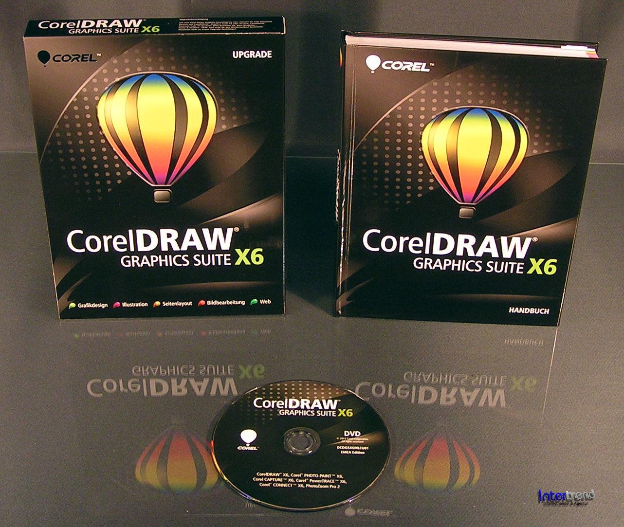 corel draw graphics suite x6 upgrade box cd handbuch. Black Bedroom Furniture Sets. Home Design Ideas