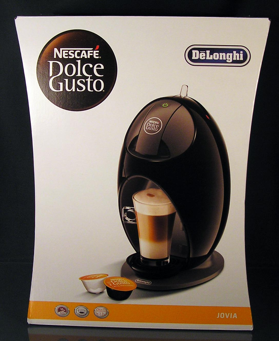 delonghi jovia schwarz edg 250 b nescaf dolce gusto kaffee kapselmaschine neu ebay. Black Bedroom Furniture Sets. Home Design Ideas