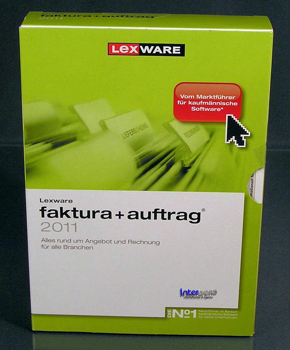lexware faktura auftrag 2011 vollversion box neu ebay. Black Bedroom Furniture Sets. Home Design Ideas