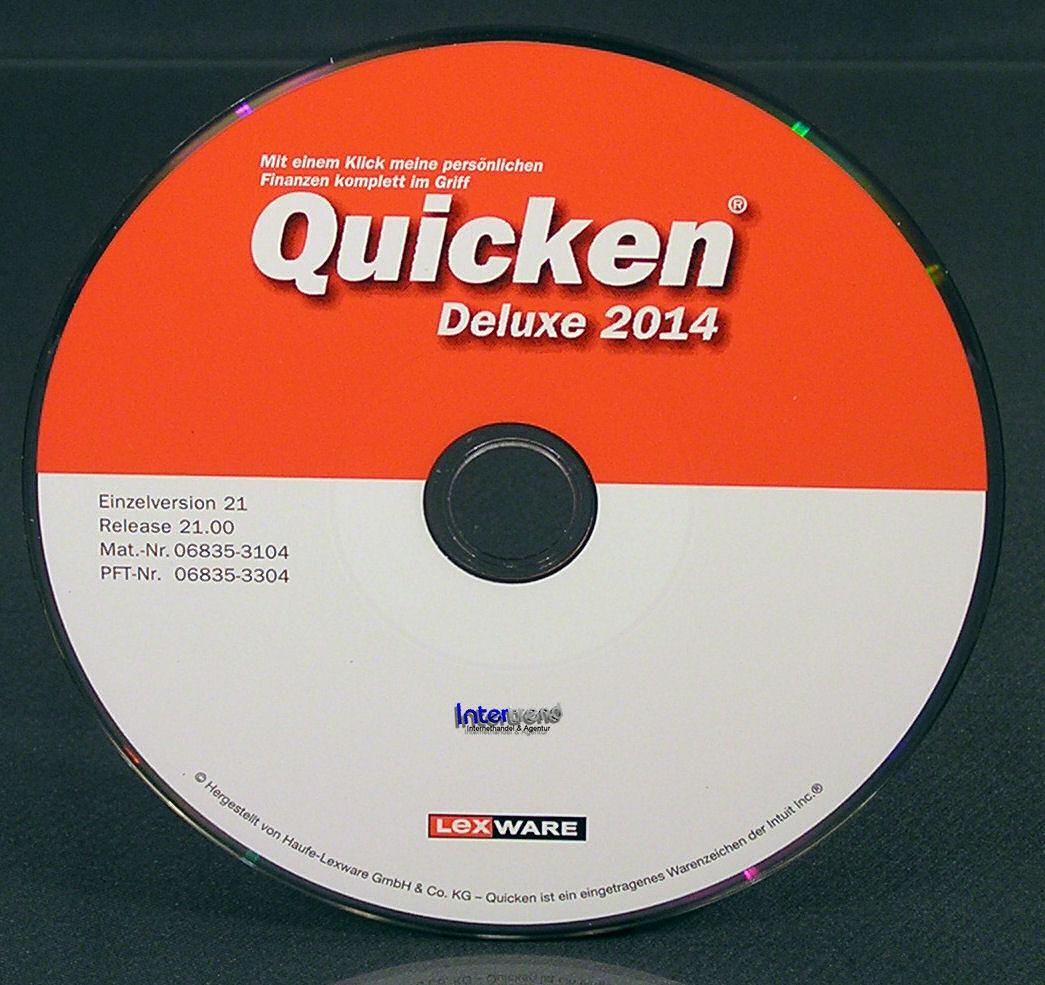 Lexware Quicken Deluxe 2014 Vollversion 2 PC Box (21.0