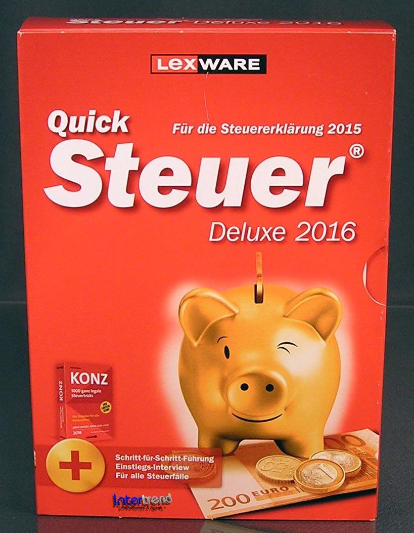 lexware quicksteuer deluxe 2016 vollversion box cd handbuch konz steuerjahr 2015 ebay. Black Bedroom Furniture Sets. Home Design Ideas