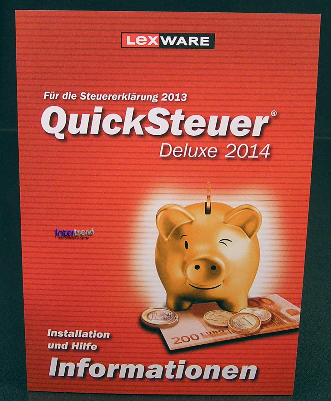 Lexware QuickSteuer Deluxe 2014 Vollversion Box CD