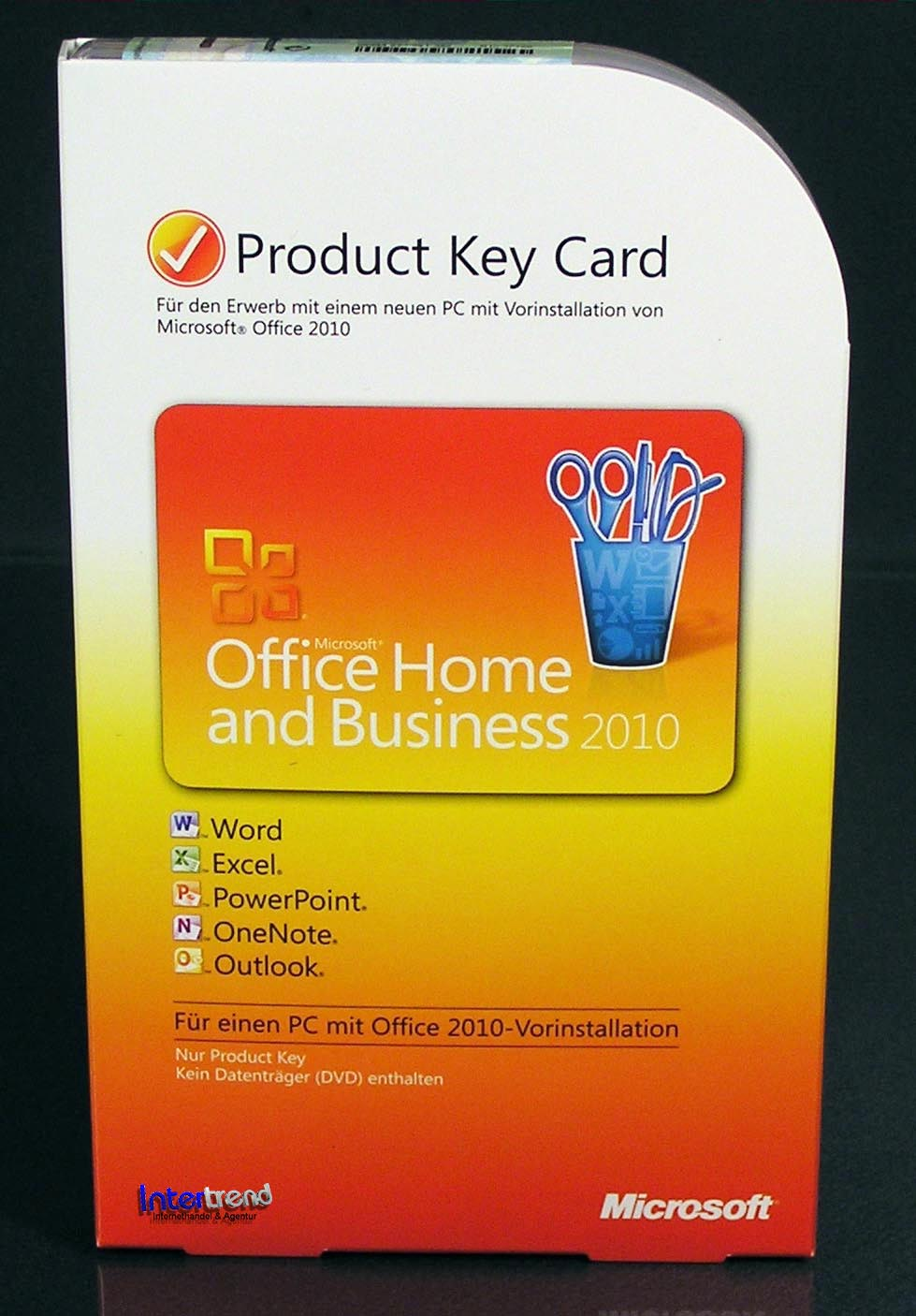 microsoft office home and business 2010 vollversion box. Black Bedroom Furniture Sets. Home Design Ideas