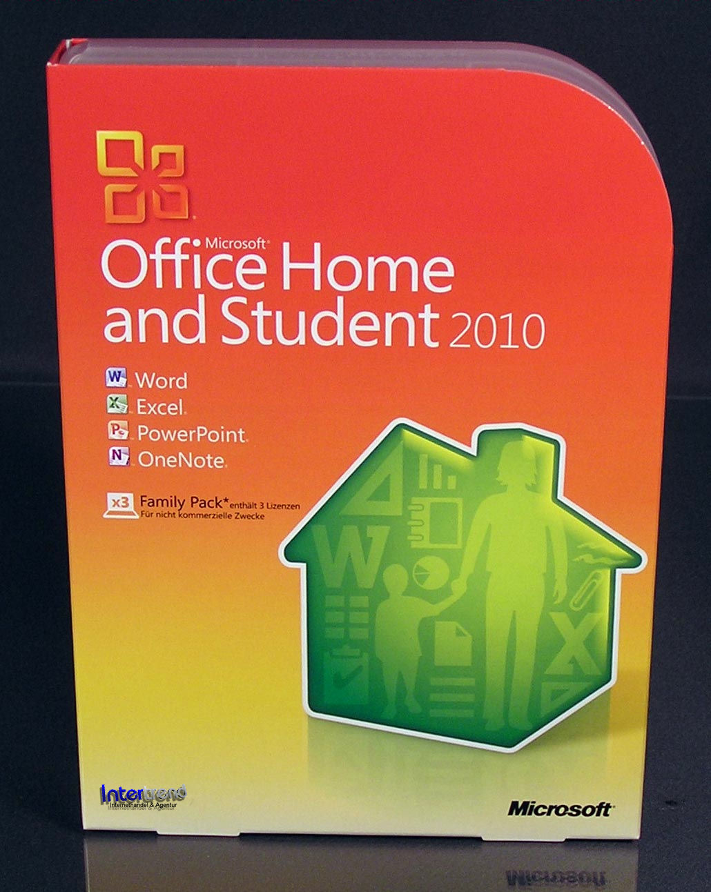 microsoft office home and student 2010 vollversion 3 pc. Black Bedroom Furniture Sets. Home Design Ideas