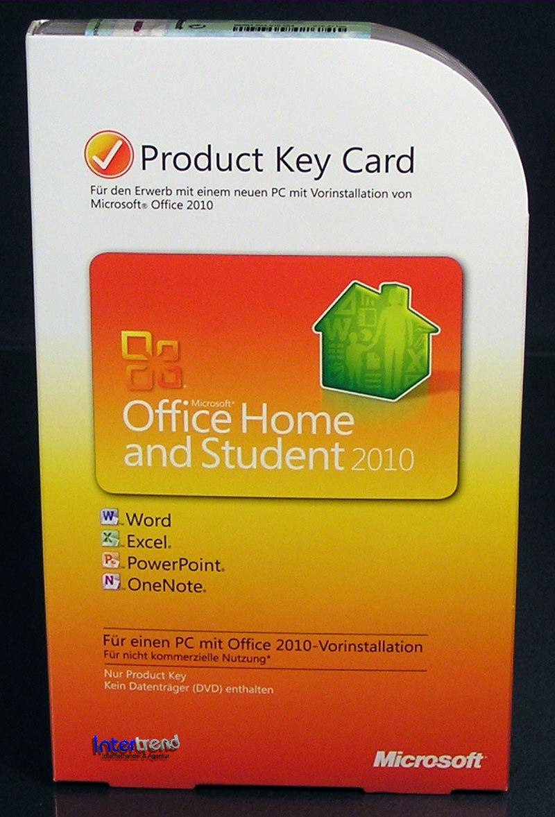 microsoft office home and student 2010 vollversion gratis update 2013 ovp neu ebay. Black Bedroom Furniture Sets. Home Design Ideas