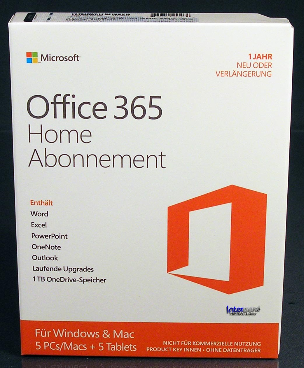 Microsoft Office 365 Home (2016) Vollversion Box 5 PC/Mac