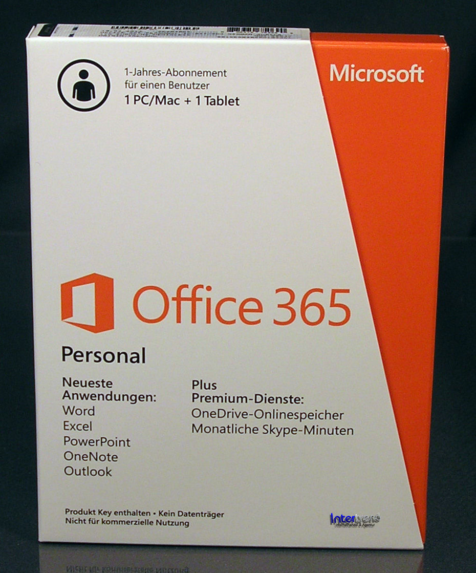 microsoft office 365 personal vollversion box 1 pc mac 1 tablet 32 64 bit abo 885370750690 ebay. Black Bedroom Furniture Sets. Home Design Ideas