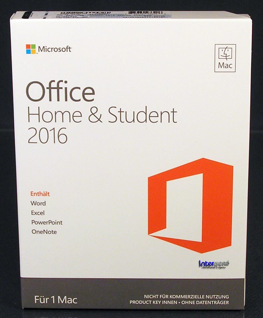 microsoft office home and student 2016 vollversion box 1 mac deutsch ovp neu. Black Bedroom Furniture Sets. Home Design Ideas