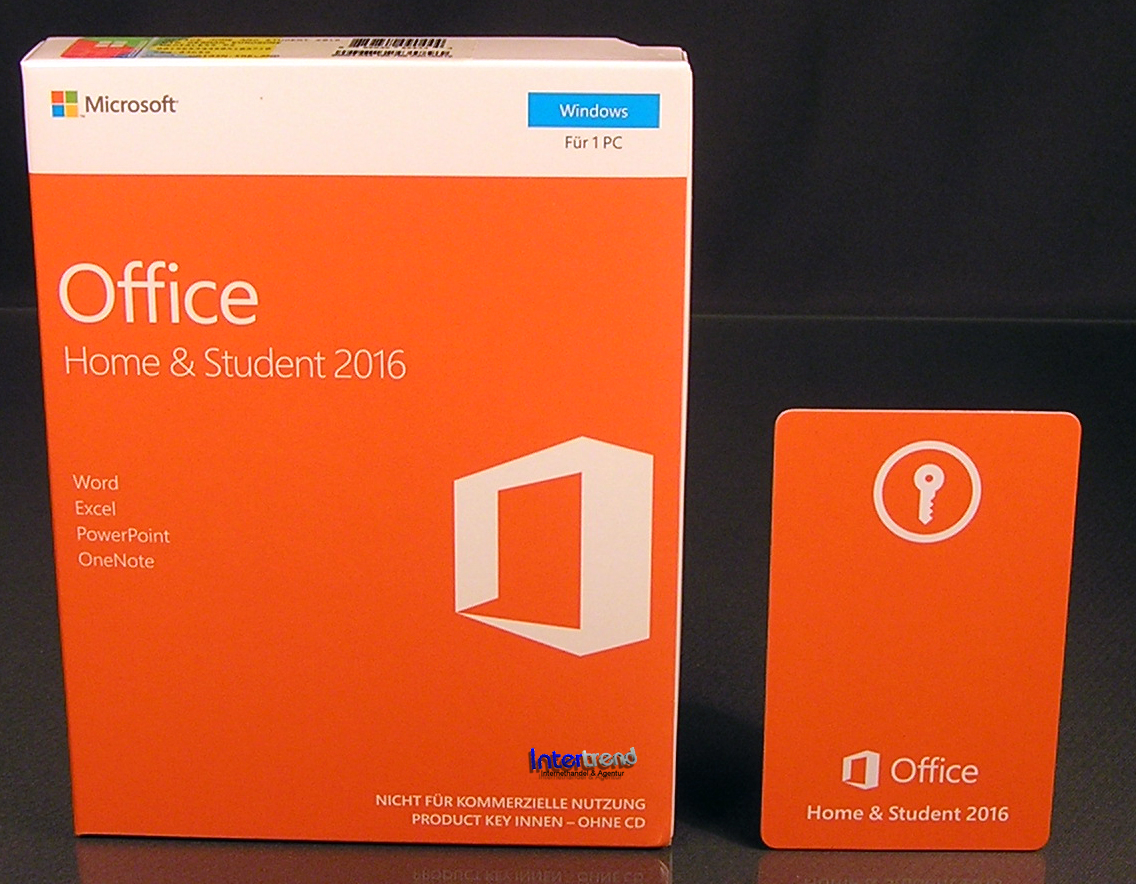 microsoft office home and student 2016 vollversion box 1 pc 32 64 bit de ovp neu ebay. Black Bedroom Furniture Sets. Home Design Ideas