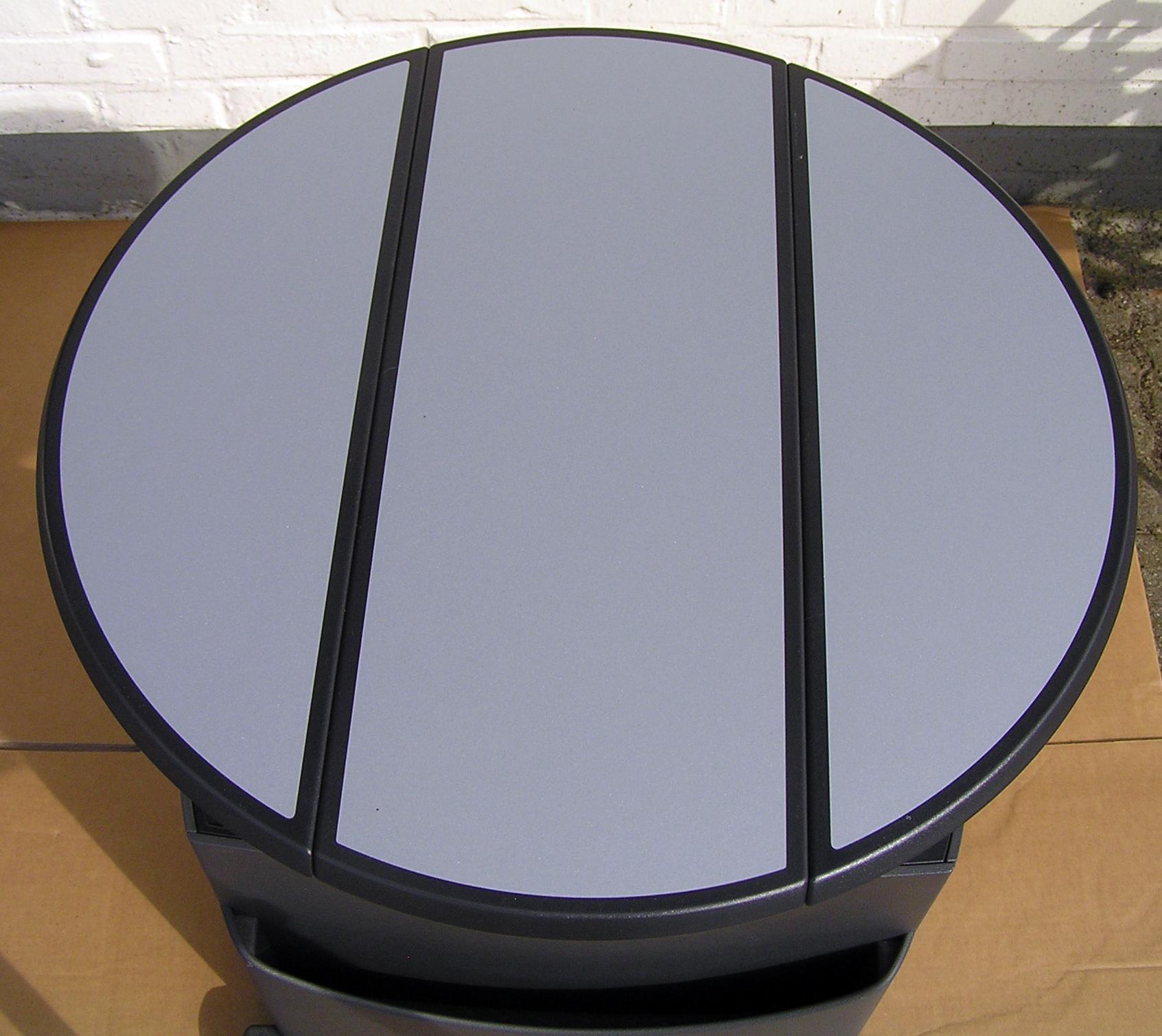 vw t5 table multifunction table f rail system light grey. Black Bedroom Furniture Sets. Home Design Ideas