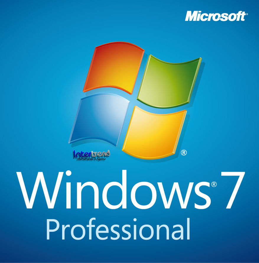 Microsoft Windows 7 Professional Vollversion 32/64-Bit ...
