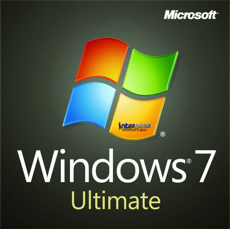 Microsoft Windows 7 Ultimate Vollversion SB 64 Bit Hologramm DVD SP1