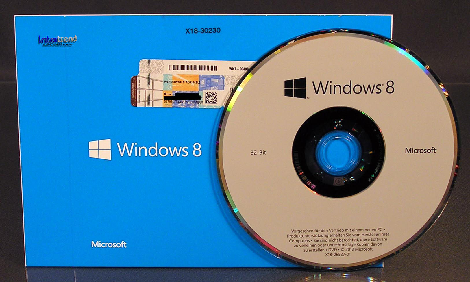 Details zu Microsoft Windows 8 Vollversion SB 32-Bit DE mit Hologramm