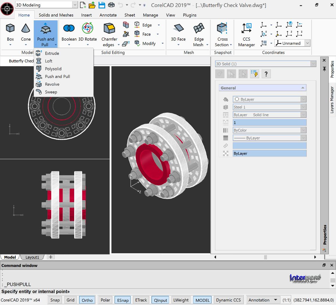 CorelCAD 2019 Vollversion 2D/3D Cad-Software Schulversion