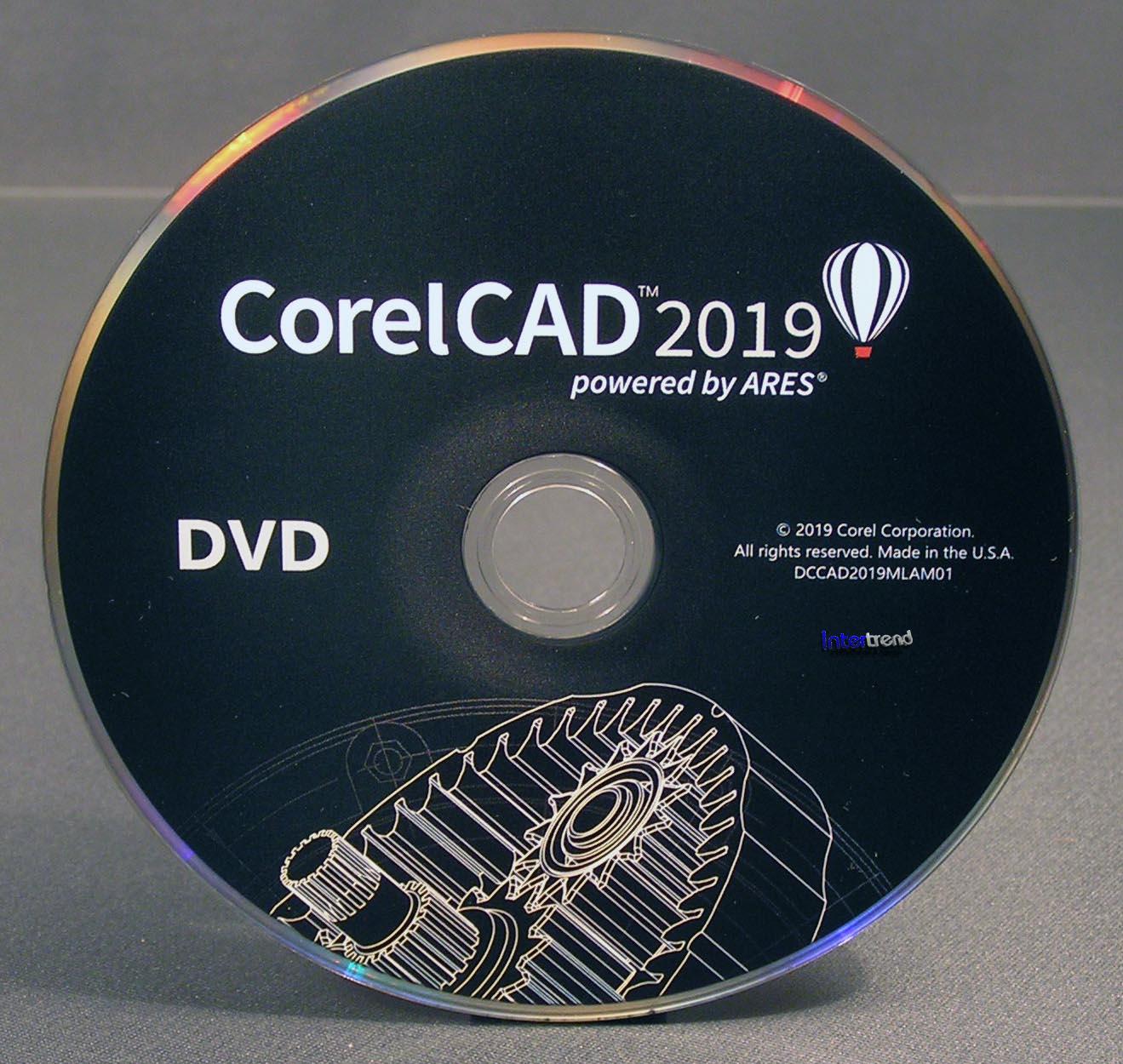 CorelCAD 2019 Vollversion Box + CD 2D/3D Cad-Software