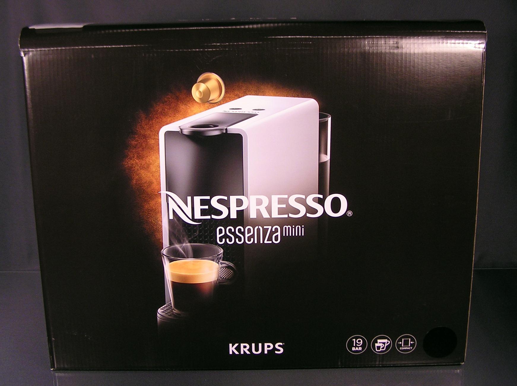 Krups nespresso essenza mini schwarz glänzend kapselmaschine