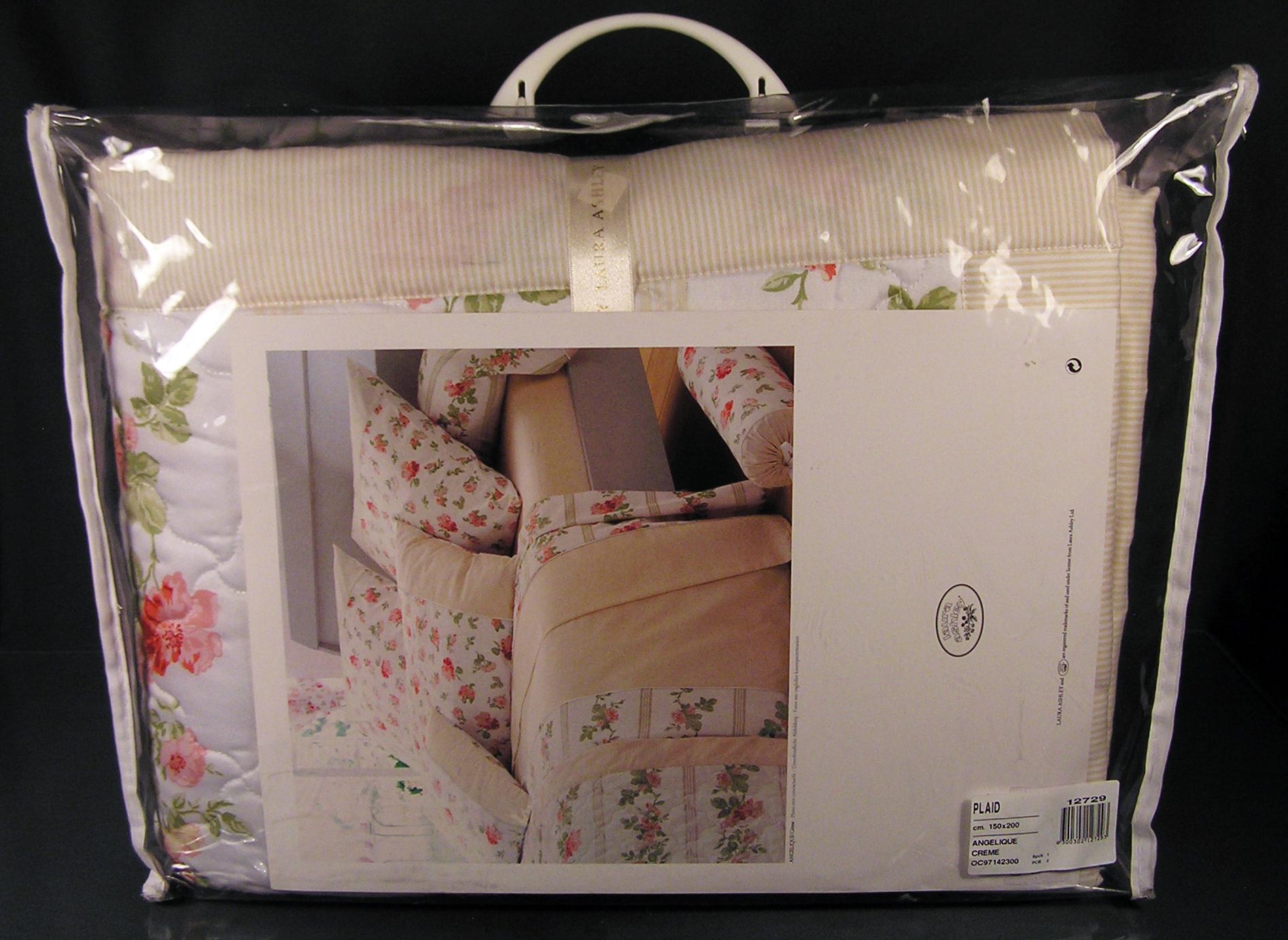 laura ashley angeliqu creme bett berwurf 150 x 200 cm einzelbett tagesdecke neu ebay. Black Bedroom Furniture Sets. Home Design Ideas