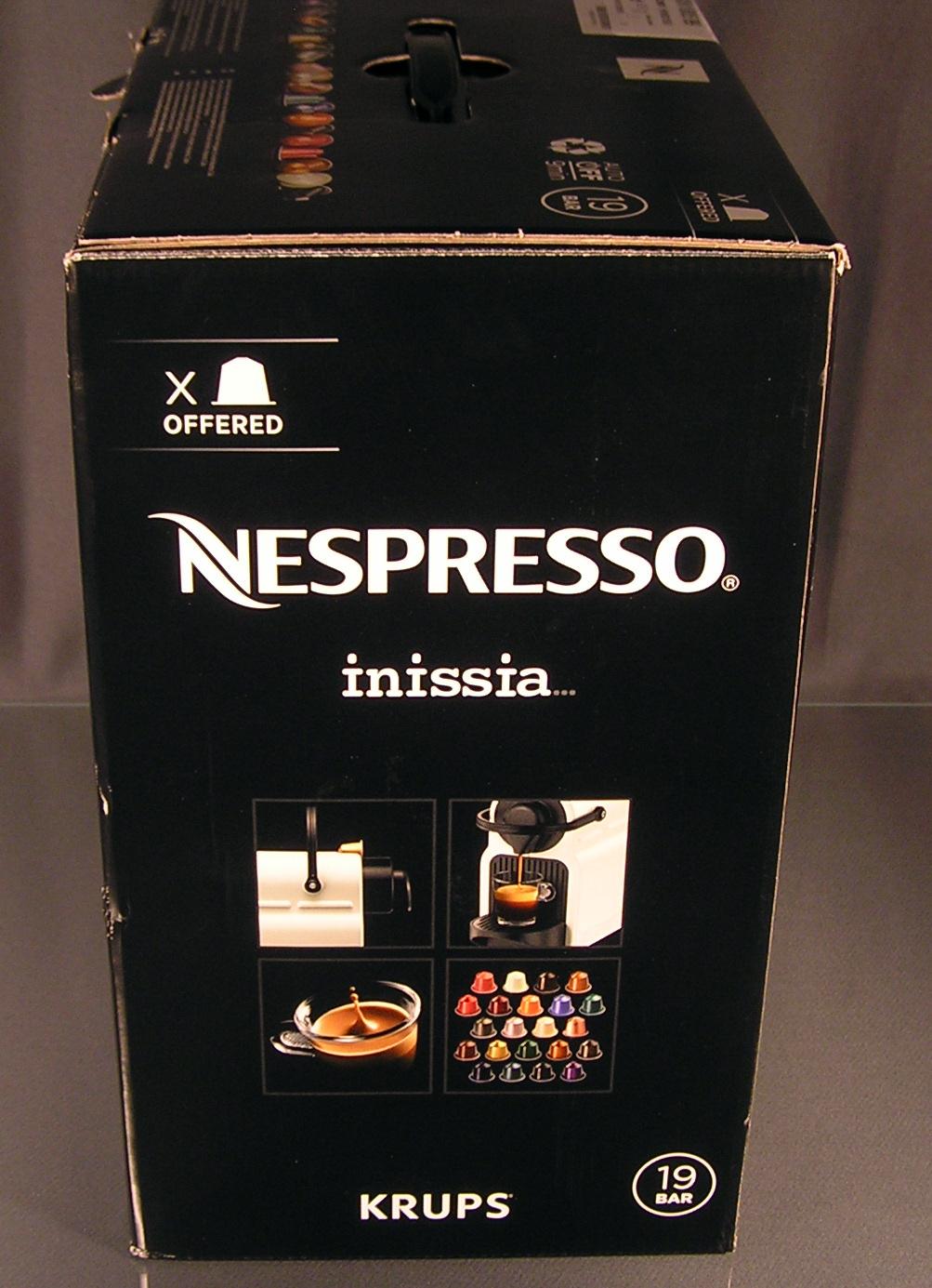 krups nespresso inissia xn1005 ruby red kapselmaschine rot welcome kit ovp neu ebay. Black Bedroom Furniture Sets. Home Design Ideas